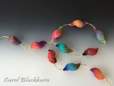 Necklace of blended shell beads by Carol Blackburn, of course! Just lovely shades and shapes.