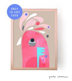 "This is a fine art print from the original ""Galah"" Artwork by Pete Cromer. Painting For Kids, Art For Kids, Painting Tips, Kids Prints, Fine Art Prints, Cromer, Australian Birds, Guache, Bird Illustration"