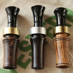 Beautifully handcrafted duck calls by Brett Akins of Braselton, Georgia.