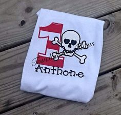Skull and crossbone birthday party   pick your by TouchdownTutus