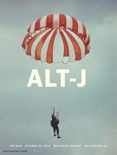 Alt-J - Greek Theater LA Gig Poster