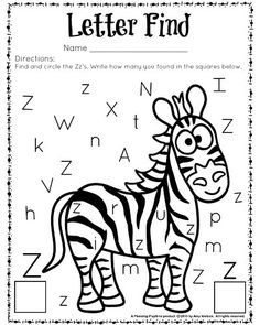 Adorable Letter Find Worksheets for Preschool and Kindergarten classrooms, homeschools, and kids who enjoy cute educational fun. Alphabet Phonics, Preschool Letters, Preschool Curriculum, Learning Letters, Preschool Kindergarten, Kindergarten Worksheets, Preschool Activities, Homeschool, Alphabet Letters