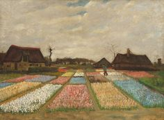 Vincent van Gogh - Flower Beds in Holland, ca. 1883 - Oil on canvas on wood