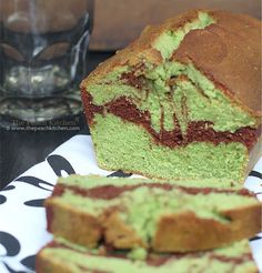Matcha {Green Tea} and Chocolate Marble Loaf | use a little less sugar and a little more matcha!