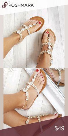 IKRUSH Crystal Embellished SandalsJeweled Brand New With Box. Sizes 5 and 6 available. IKRUSH Shoes Sandals