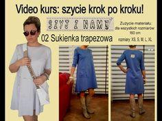 02 Sukienka trapezowa - YouTube