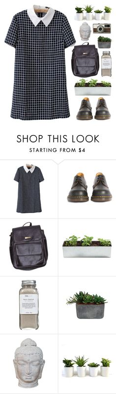 """""""Grunge"""" by f-resh ❤ liked on Polyvore featuring Dr. Martens, American Apparel, Noted*, Très Pure, Laura Ashley, Puji, casual, black, grunge and collar"""