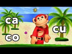 Sílabas ca co cu - El Mono Sílabo - Videos Infantiles - Educación para Niños # - YouTube