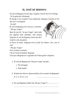 Lectures comprensives -primer cicle-