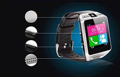 Limgo(TM) GV08 Smart Watch Outdoor Sport Bluetooth WristWatch Support SIM Card with Camera WristWatch for iPhone Android Phone Smartphones (Black). GSM Cell Phone, Bluetooth Dialer & Bluetooth Headset, Music Player, Camera, Alarm Clock, Watch, Pedometer, Vibration Alert. When the bluetooth connection, cell phone can synchronize the phone book, can control the smart phone anytime and anywhere on a watch dial, answer. Have anti lost,when smartphones more than 10 meters, watch will ring or...