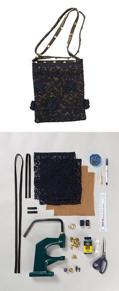 Make this little bag from leftover fabric! Lace Bag tutorial via BurdaStyle