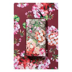 GG Blooms Supreme Canvas Chain Wallet