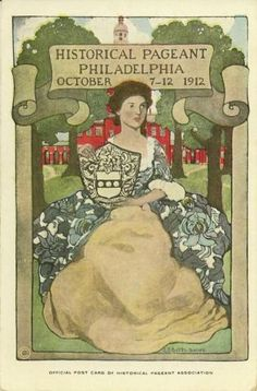 ca. 1912 Philadelphia historical pageant exhibition fair advertising postcard