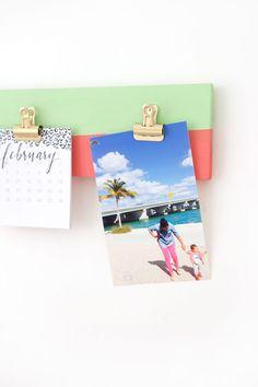 DIY: Photo Gallery Clipboard ~   اصنعها بنفسك: مثبت للصور