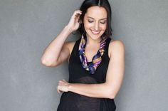 Turn a scarf into a statement necklace | Spring Style