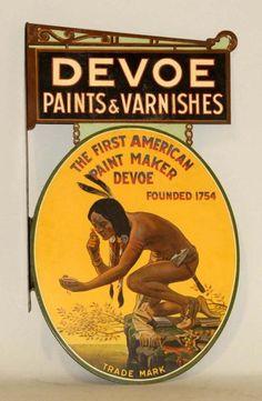 Lot # : 154 - Devoe Paints & Varnishes Sign.