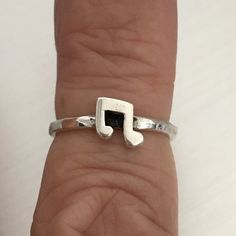 Sterling Silver Adjustable Musical Note Toe Ring