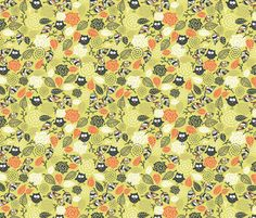 Cute owls. fabric by panova on Spoonflower - custom fabric