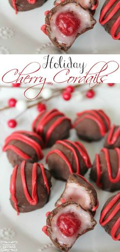 Easy Homemade Cherry Cordails Recipe! Love this Easy Christmas Dessert Recipe for Christmas parties!