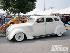 Dan Bodnar of West Mifflin, Pennsylvania has a gorgeous street rod. His '34 Chrysler Airflow has to be one of the rarest cars in the lot. Nice style and stance.