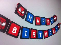 Lego Spiderman Theme Birthday Banner Garland by GatheringGarlands