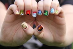 Peter Pan Inspired Nails by your-guiltypleasure.deviantart.com on @deviantART