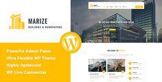 Marize - Construction & Building WordPress Theme (Business) - http://creativewordpresstheme.com/marize-construction-building-wordpress-theme-business/