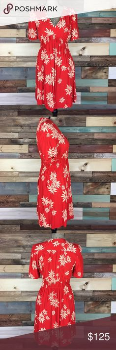 HD in Paris Felicity Red Floral Dress - 10 HD in Paris Felicity Red Floral Dress - 10 // love this dress, purchased and only wore it 1x. Red is not my color but I loved the pattern! Anthropologie Dresses