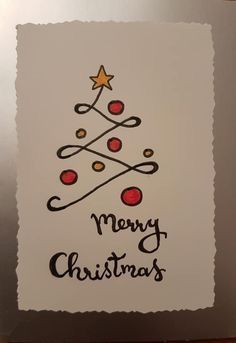 Einfache DIY Weihnachtskarte Ideen, die Sie in dieser Saison senden möchten Simple DIY Christmas Card Ideas You Want To Send This Season, … Merry Christmas Images, Simple Christmas Cards, Christmas Doodles, Handmade Christmas Tree, Christmas Card Crafts, Homemade Christmas Cards, Christmas Tree Cards, Homemade Cards, Holiday Cards