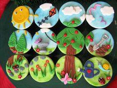 Garden Landscape Cupcakes by Zaheera Badat