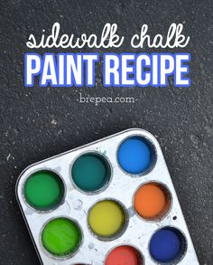 A great homemade sidewalk chalk recipe idea, make your own diy sidewalk chalk paint! It only takes a few simple ingredients like corn starch and food coloring, a great for summer fun ideas for kids. Craft Projects For Kids, Diy Crafts For Kids, Activities For Kids, Diy Projects, Sidewalk Chalk Paint, Thrift Store Crafts, Spring Crafts, Summer Fun, Fun Ideas