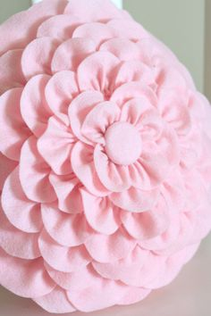 Felt Flower Pillow Felt Flower Pillow Felt Flowers And Pillows