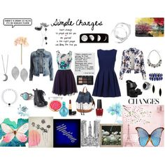 Simple Changes by vicky9b on Polyvore featuring VILA, Office, White House Black Market, Rivka Friedman, Humble Chic, Gypsy Warrior, M&Co, NARS Cosmetics, Chanel and Britney Spears