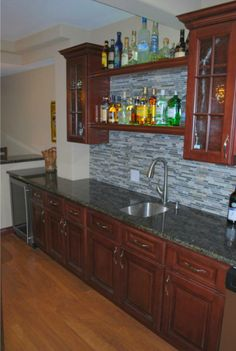 Pacifica Cabinets for a bar by Kitchen Cabinet Kings