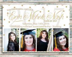 Red Black Graduation Party Invitation Graduation Invites
