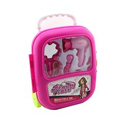 Owfeel Beauty Makeup Bag Luggage Upright Playset Toy Assorted Beauty Accessories >>> Details can be found by clicking on the image.