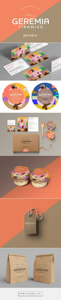 Geremia Tiramisù on Behance by Hello This is Kae curated by Packaging Diva PD. Can one live off of Tiramisu? I love this packaging and it's gluten free.