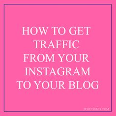 Instagram is one of the most popular social media sites. We are sharing tips on how to get traffic from Instagram. Turning followers into readers helps to build your sites traffic.