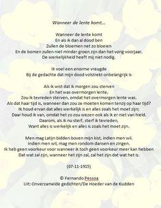Fernando Pessoa - Wanneer de lente komt