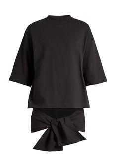 Tie-waist cotton-jersey top | Balenciaga | MATCHESFASHION.COM UK