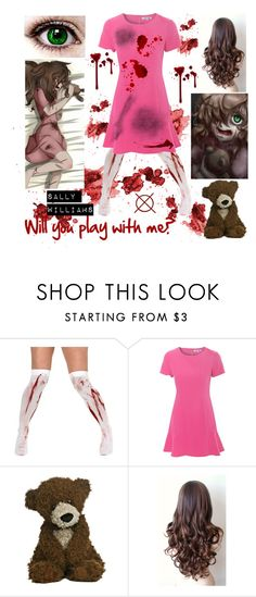 """Sally Williams Creepypasta Outfit"" by brendon-urie-enthusiast ❤ liked on Polyvore featuring Alice & You"