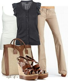 Like this, but not the shoes. Already have tan leather strapped lower sandals.