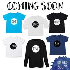 t shirts will be available again soon. Including our new Number Range, available from 1 to 10 in a range of colours and styles. Pop your email below to be the first to know when these and our new tees are available and gain access to an exclusive pre-preorder! #kidsapparel #birthdayshirt #numbertees #numbertee #toddlerclothes #kidsfashion #fashionkids #toddlerfashion #toddlerstyle #kidsstyle #kids #toddler #instakids #toddlersofinstagram #preorder