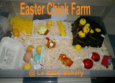 Le Baby Bakery: Easter Chick Farm - Small world play Eyfs Activities, Easter Activities, Spring Activities, Nursery Activities, Preschool Projects, Bouncy Egg, Tuff Spot, Role Play Areas, Spring Animals