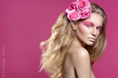 Pretty in Pink Beauty Editorial for Coco Magazine. Photo Credit: Lindsay Adler Photography