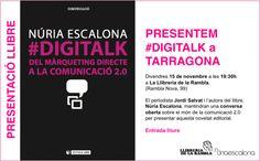 Convocatòria presentació #DigiTalk a #Tarragona. A la Llibreria de la Rambla amb el periodista @Jordi Salvat