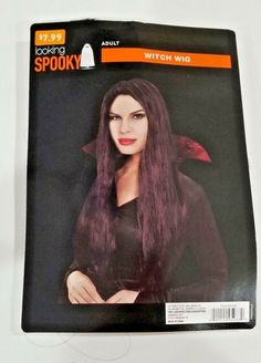 Halloween Adult Witch Wig Straight Long Black Costume accessory Looking Spooky Black Wig, Long Black, Halloween Costume Accessories, Halloween Costumes, Wig Hairstyles, Straight Hairstyles, Black Costume, Adult Halloween, Wigs