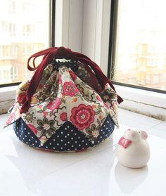How to Make a Patchwork Drawstring Bag
