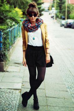 mustard jacket - scarf = awesome.