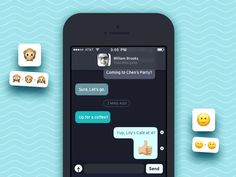 Next shot from the series: Emoji animations in messages. The idea is to start animating emojis just by adding a + symbol between the emojis like this 😊 + 😄 .  Sorry for the long delay everyone. Too...